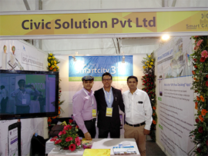 Our Booth at the Launch Event for Indore Smart City Project