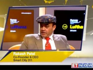 Mr. Rakesh Patel, Co-founder of SmartCity-311, Starred on ET N